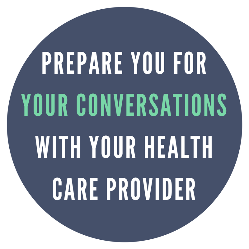 Prepare for conversations with your Health Care Provider
